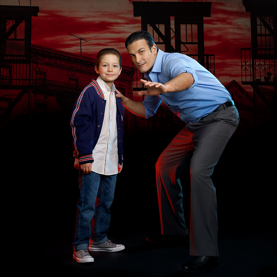 A Bronx Tale with a little boy and man